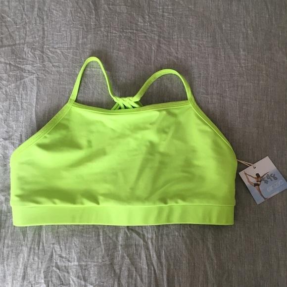 169da806fc004 Onzie Neon Green Sports Bra (S M) (NWT)